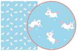 Papier Décopatch Licornes - 3 feuilles  N°727 - Licorne et Arc-en-ciel – 10doigts.fr