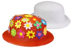 Chapeaux blancs à décorer - 6 pcs - Mardi gras, carnaval – 10doigts.fr