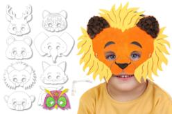 Masques animaux à décorer - lot de 8 - Masques – 10doigts.fr