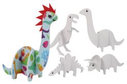 Dinosaures 3D en carton mousse à décorer et assembler