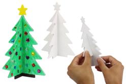 Sapins 3D en carton mousse - 8 pièces - Décoration de Noël – 10doigts.fr