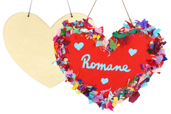 Grand coeur en bois à suspendre - Plaques de porte – 10doigts.fr