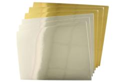 Cartes fortes métallisées effet miroir - Set de 6 - Papiers à effets – 10doigts.fr