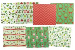 Papiers de Noël - set de 7 feuilles - Papiers de fêtes – 10doigts.fr