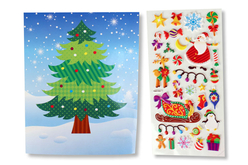 Cartes de Noël +  stickers - Compliments, cartes... – 10doigts.fr