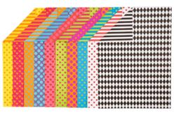 Cartes fortes recto-verso à motifs - set de 20 - Activités en papier – 10doigts.fr