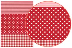 Papier Décopatch Pois rouge - 3 feuilles  N°484 - Papiers Décopatch – 10doigts.fr
