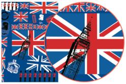 Papier Décopatch British - 3 feuilles  N°530 - Voyages – 10doigts.fr