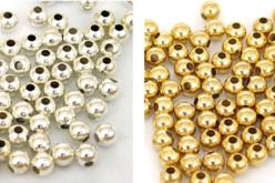 Set d'environ 200 perles rondes en métal