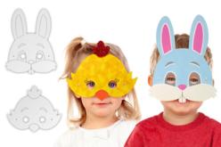 Masques de Pâques - 3 poussins + 3 lapins - Pâques – 10doigts.fr