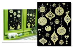 Stickers de Noël phosphorescents repositionnables, pour fenêtres - Stickers de fêtes – 10doigts.fr