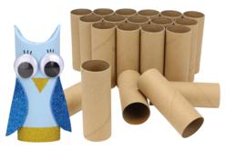 Rouleaux en carton pour créer - Lot de 24 rouleaux - Lettres et Formes – 10doigts.fr