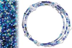 Kit bracelets farandole de perles fantaisie, en camaïeu de bleus