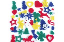 Set de 170 motifs de Noël en feutrine, couleurs assorties - Feutrine – 10doigts.fr