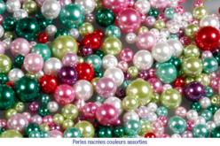 Set de 500 perles nacrées rondes, tailles et couleurs assorties
