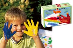 Gouaches aux doigts