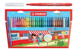 Feutres de coloriage Stabilo Power - 30 couleurs - Feutres Larges – 10doigts.fr