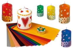 Set de 10 plaques de cire, 10 couleurs assorties - Colorants, parfums, accessoires – 10doigts.fr
