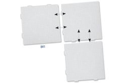 Plaque carrée pour assemblage, pour perles fusibles