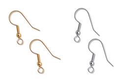 Crochets d'oreilles, dorés ou argentés - Set de 6 - Boucles et pendentifs d'oreilles – 10doigts.fr