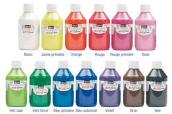 Peinture acrylique mate - 80 ou 250 ml - Acryliques scolaire – 10doigts.fr