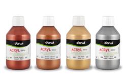 Peinture acrylique métallisée - 80 ou 250 ml - Acrylique Métallisée – 10doigts.fr