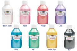 Peinture acrylique nacrée 80 ou 250 ml - Acryliques scolaire – 10doigts.fr