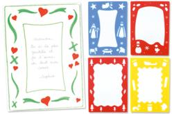 """Pochoirs """"Noël"""" pour poèmes et compliments - Set de 4 - Pochoir fêtes – 10doigts.fr"""