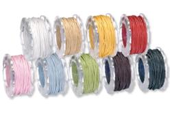 Cordons en coton ciré : ø 1 ou 2 mm