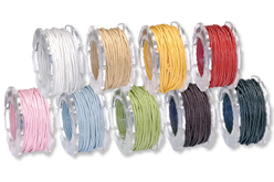 Cordons en coton ciré - Coton – 10doigts.fr