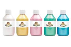 Peinture acrylique nacrée - 5 flacons de 250 ml - Acryliques scolaire – 10doigts.fr