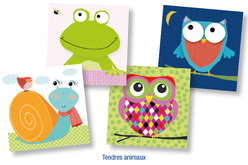 "Set de 12 Serviettes ""Tendres Animaux"""