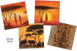 """Set de 12 serviettes """"Ethnique Massaï"""""""