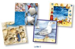 "Set de 12 serviettes ""La Mer 2"""