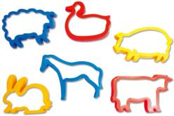 Set de 6 grands emporte-pièces Animaux de la ferme - Emporte-pièces plastique et métal – 10doigts.fr