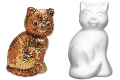 Chat en polystyrène 14 cm - Animaux Polystyrène – 10doigts.fr