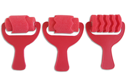 Rouleaux éponge fantaisie - 3 formes assorties - Rouleaux – 10doigts.fr