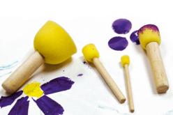 Set de 12 tampons pochoirs - Brosses à peindre – 10doigts.fr