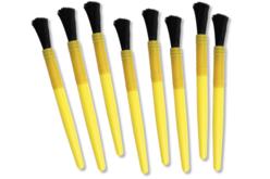 Pinceaux brosses grosse touffe - Lot de 8 - Brosses – 10doigts.fr