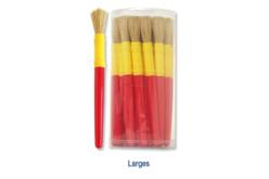 Pinceaux à manches en plastique - Tube de Pinceaux assortis - Brosses – 10doigts.fr