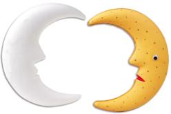 Lune en polystyrène 20 cm - Formes Polystyrène – 10doigts.fr