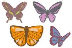 Papillons en bois décoré