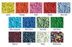 Perles de rocaille couleurs opaques au choix - 9000 perles - Perles de rocaille – 10doigts.fr
