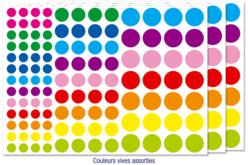 Gommettes rondes couleurs vives - Gommettes géométriques – 10doigts.fr
