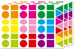 Maxi gommettes géométriques, formes assorties - 3 planches - Toutes les gommettes géométriques – 10doigts.fr