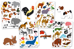 Maxi Pack gommettes animaux - Gommettes animaux – 10doigts.fr
