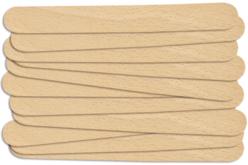 Languettes en bois naturel, Set de 100 - Bâtonnets, tiges, languettes – 10doigts.fr