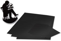 Papier silhouette noir, gommé ou non-gommé
