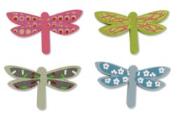 Libellules en bois décoré - Motifs peint – 10doigts.fr
