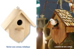 Nichoir en bois à à suspendre - 15 cm - Nichoirs – 10doigts.fr
